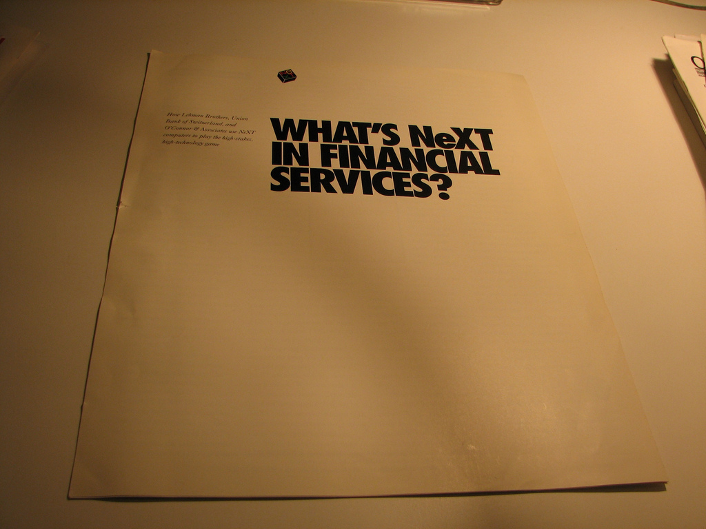 NeXT brochure on NeXT in Financial Services
