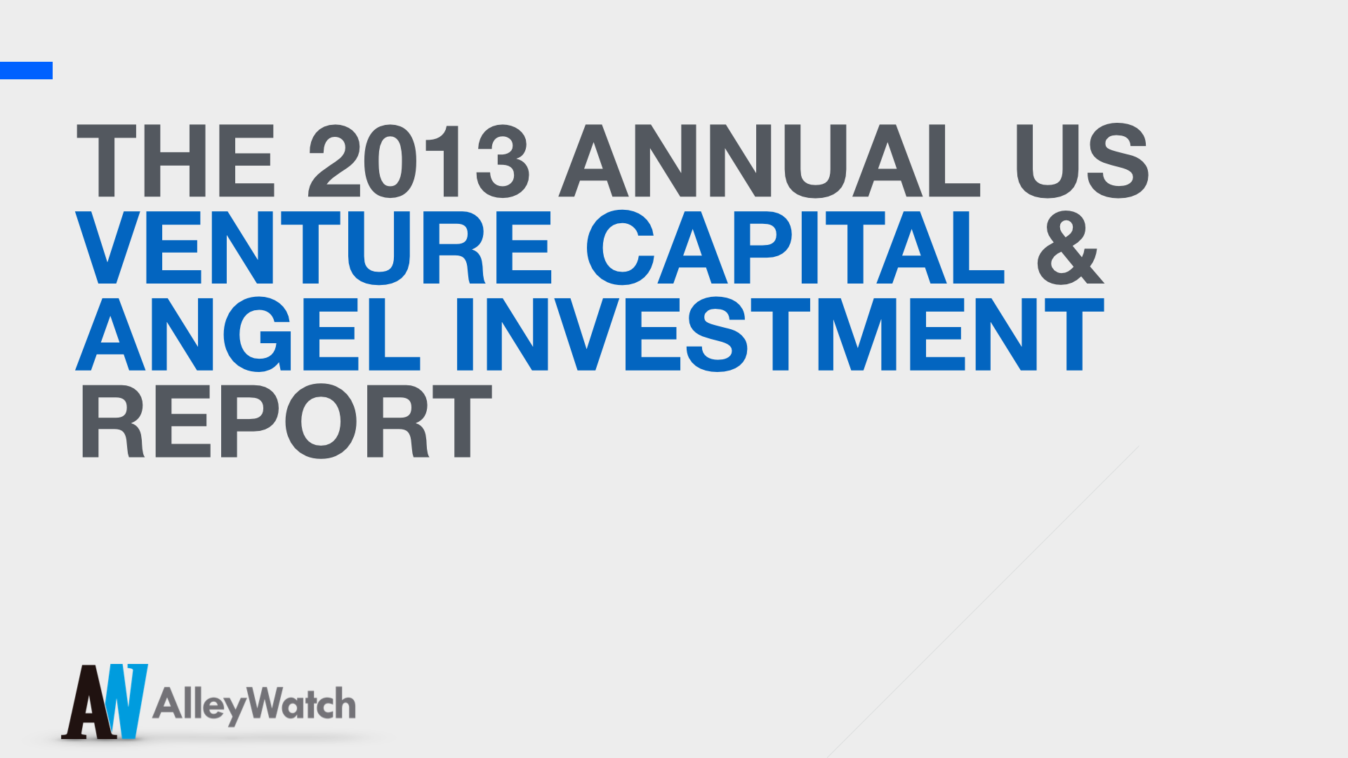 AlleyWatch Annual 2013 New York and US Venture Capital & Angel Investment Report copy.001