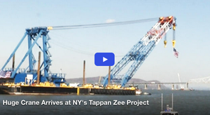 You Must See The World's Largest Crane Arriving at the Tappan Zee