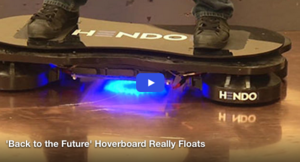 'Back to the Future' Hoverboard Really Floats