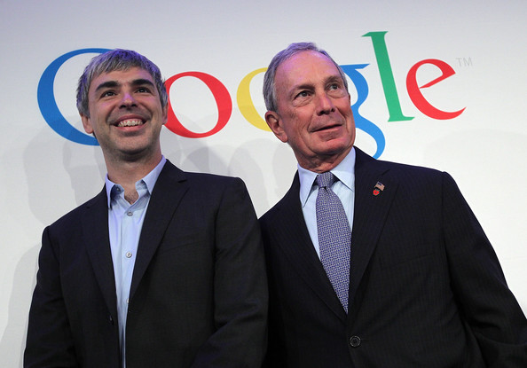 Michael Bloomberg and Larry Page
