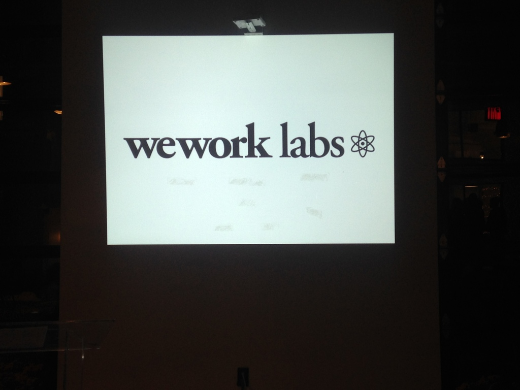 We Work Labs Intro Slide