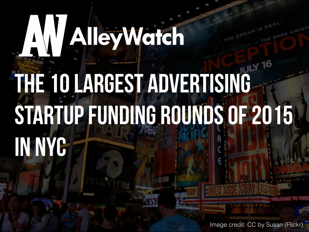 NYC Advertising Startups Most Capital 2015.001