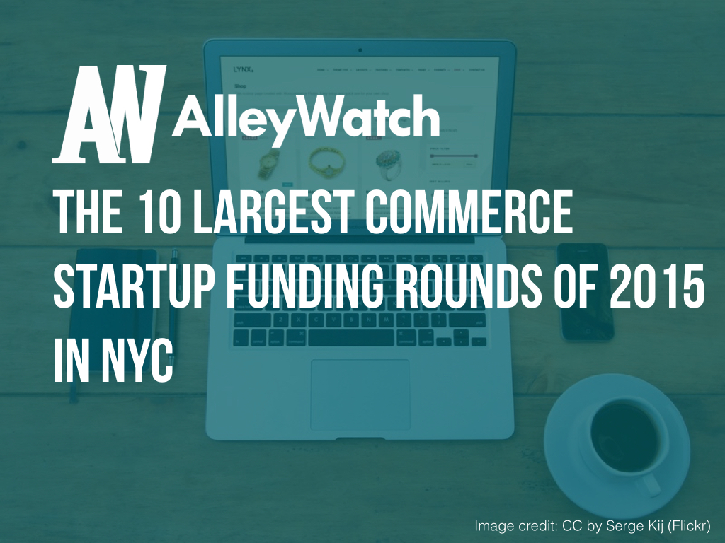 NYC Ecommerce Startups Most Capital 2015.001