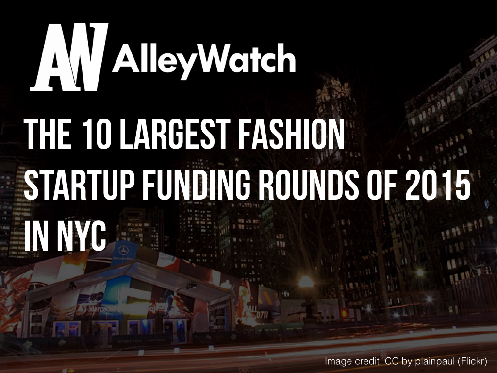 NYC Fashion Startups Most Capital 2015.001