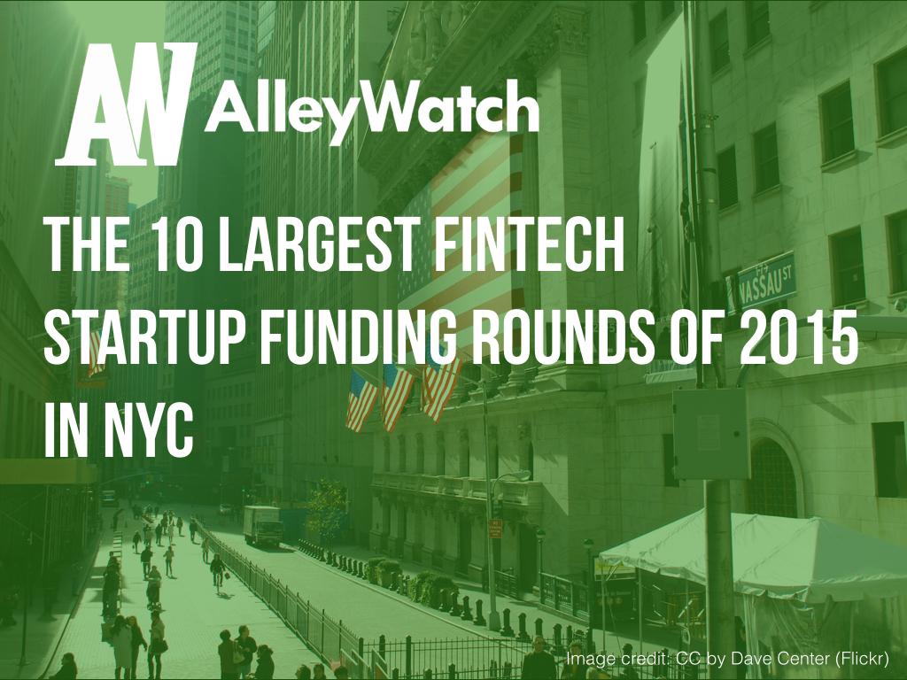 NYC Fintech Startups Most Capital 2015.001