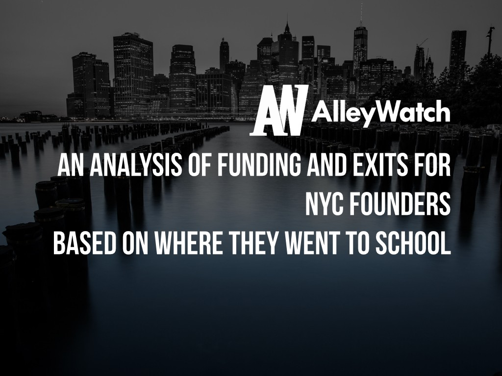 An Analysis of Funding and Exits for NYC Founders Based on Where They Went to School.001