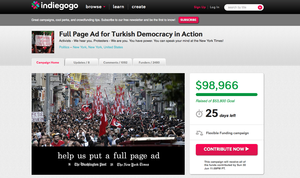 The Revolution Will Be Crowdsourced: Three Turkish Techies Turn to Crowd-funding, to Support the Turkish Protests