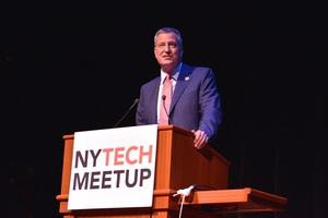 Even the Mayor of NYC Presented at the September New York Tech Meetup