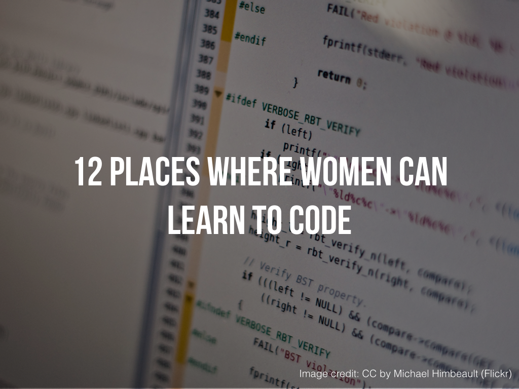 12 Places Where Women Can Learn to Code .001