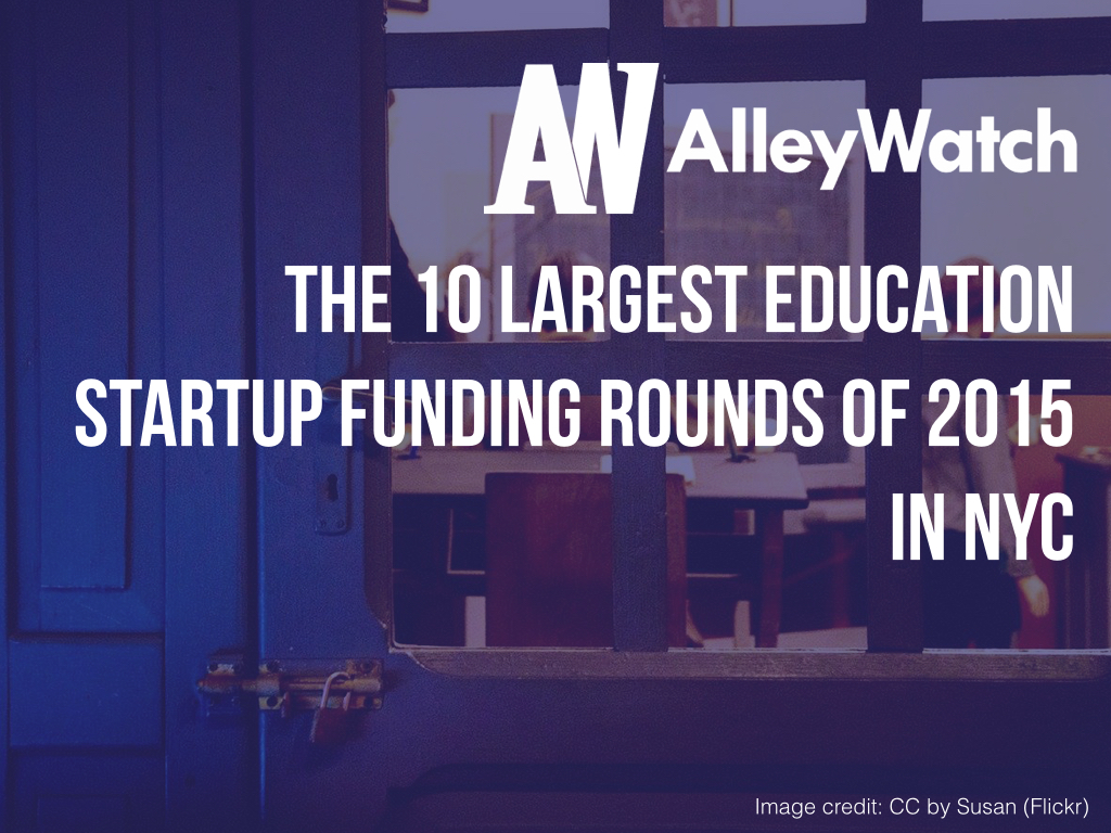 NYC Education Startups Most Capital 2015.001