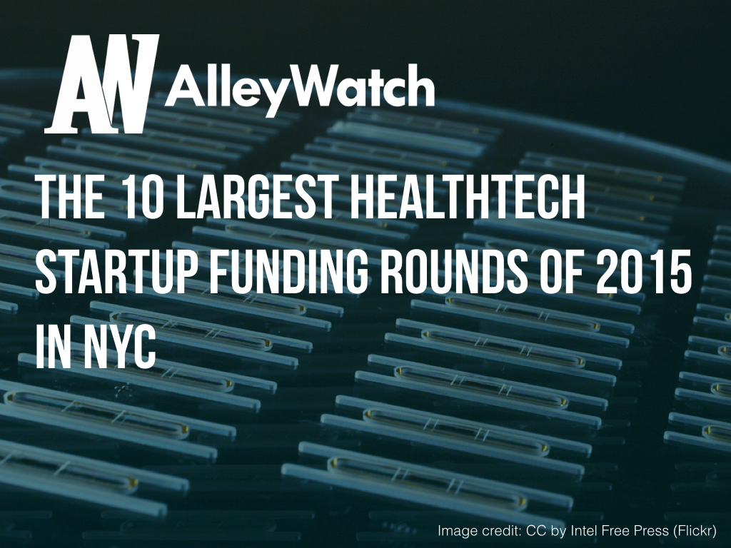 NYC HealthTech Startups Most Capital 2015.001