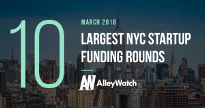 These are the 10 Largest NYC Startup Funding Rounds of March 2018