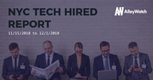 NYC Tech Hired: 12/3/18