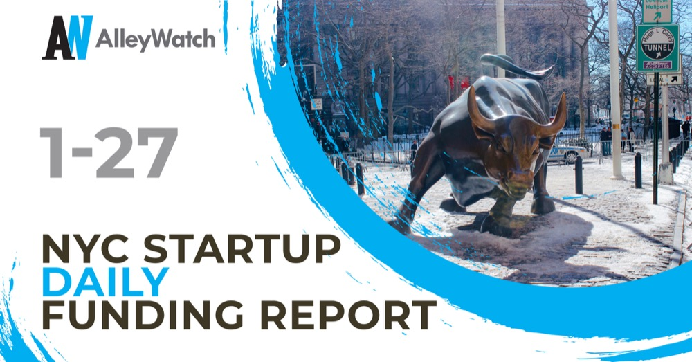 The AlleyWatch Startup Daily Funding Report: 1/27/2020