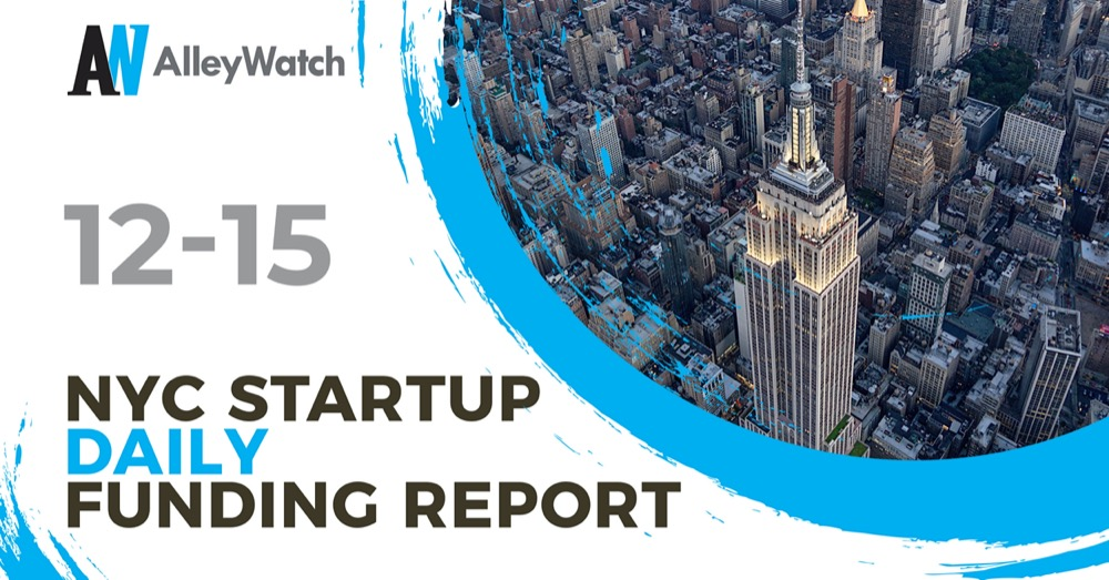 The AlleyWatch Startup Daily Funding Report: 12/15/2020