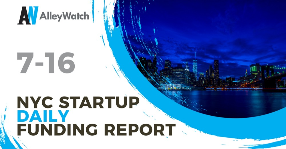 nyc tech startup funding daily report 7 16.'