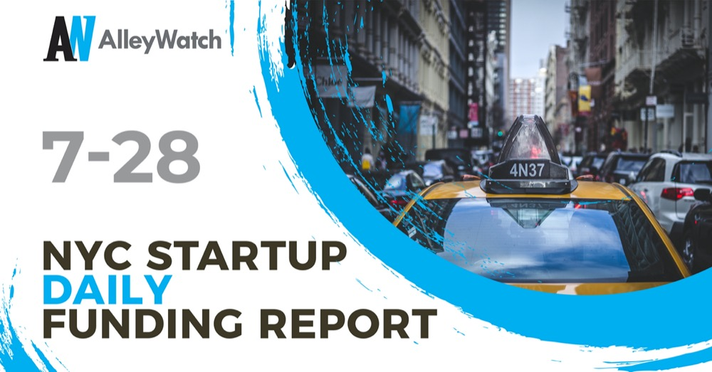 The AlleyWatch Startup Daily Funding Report: 7/28/2020
