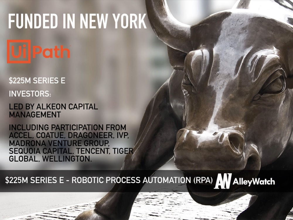 UiPath Raises Another $225M to Become NYC's Newest Decacorn